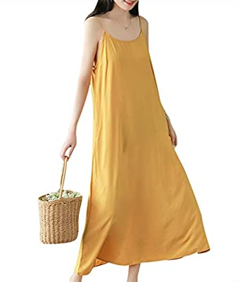 Adjustable Spaghetti Strap; Scoop Dress; 'A' Line; Soft Skin Fabric: Perfect for Sleep Wear; Occasion: Daily Wear; Sleep Wear; Outside with Cardigans; PleaserefertotheSizeChartintheProductDescriptionbeloworthe5thImagebeforeordering Ha...