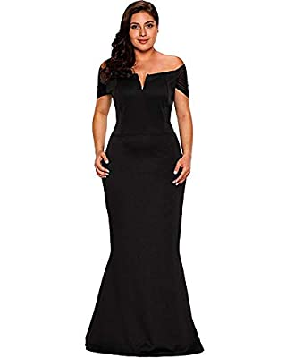 ✪WE HAVE IMPROVED BUST SIZE AND SIZE CHART, PLEASE CHECK SIZE CHART BEFORE PLACED ORDER. IF YOU HAVE SIZE PROBLEM, PLEASE MAIL US. ✪Sexy Curves -- Cocktail dress features mesh off shoulder, V neckline and stylish bodycon design, show off sexy figure ...