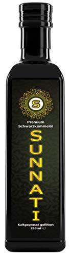 Sunnati® Premium Schwarzkümmelöl Gefiltert, kaltgepresst Erstpressung rein 250ml