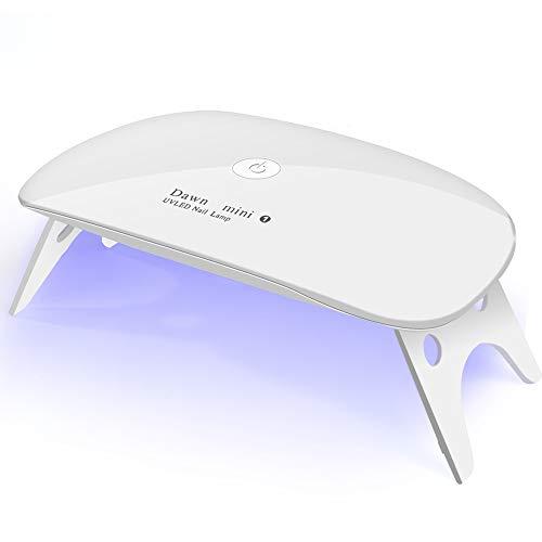UV LED nail dryer Mini Gel nail lamp Portable Curing light for Gel Nail Polish,6w(white)