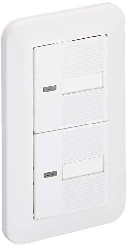 パナソニック(Panasonic) コスモワイド21 埋込ほたるダブルスイッチB WTP50512WP