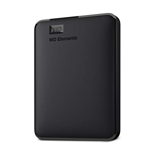 WD Elements - Disco duro externo portátil de 2 TB con USB 3.0, color negro