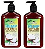 NEW Malibu Tan Hemp Coconut Body Moisturizer 18 FL OZ (530 ml) - 2-PACK