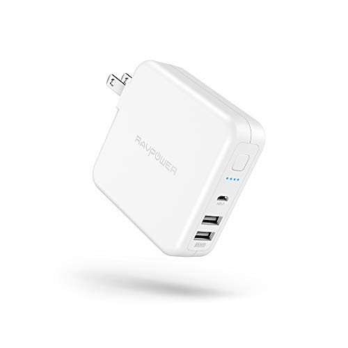 RAVPower モバイルバッテリー 搭載 USB 充電器 RP-PB125 (ホワイト)