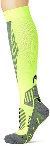 Head Racer Kneehigh Ski Socks (1 Pack) Calze da Sci, Giallo Fluorescente, 39/42 Unisex-Adulto
