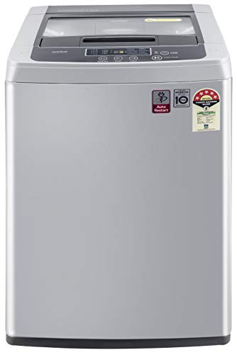 LG 6.5 Kg 5 Star Smart Inverter Fully-Automatic Top Loading Washing Machine (T65SKSF4Z, Middle Free...
