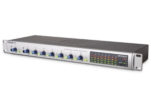 PreSonus DigiMax D8 Eight-Channel Preamp with 48 kHz ADAT Output