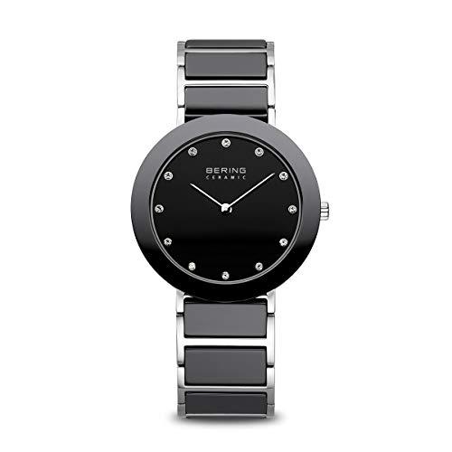 BERING Damen-Armbanduhr Analog Quarz Edelstahl 11435-749
