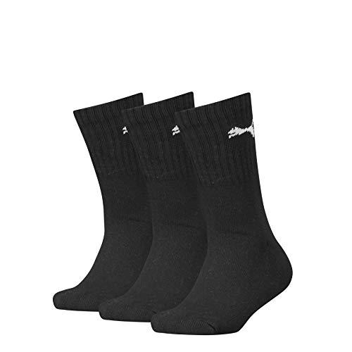 PUMA Junior Sport Socks (3 pack) Calzini, black, 27-30 (Pacco da 3) Unisex-Bambini