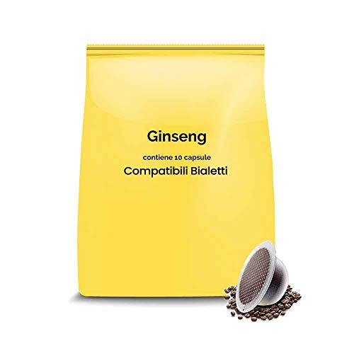 100 capsule compatibili Bialetti - Ginseng - Caffè dal Mondo