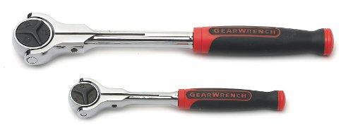 GEARWRENCH 2 Pc. 1/4' & 3/8' Drive 72 Tooth Dual Material Roto Ratchet Set - 81223