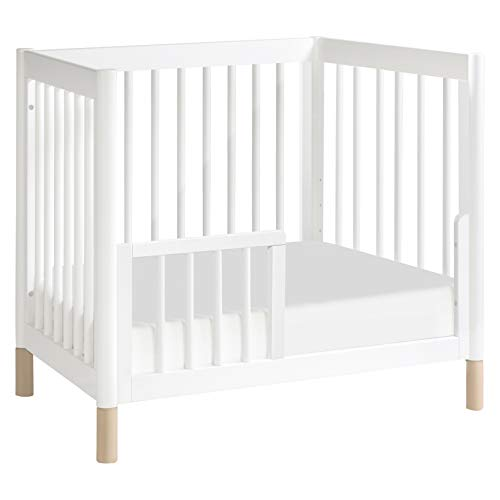 Product Image 7: Babyletto Gelato 4-in-1 Convertible Mini Crib in White / Washed Natural, Greenguard Gold Certified