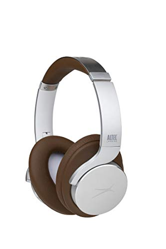 Altec Lansing Comfort Q+ Bluetooth Headphones, Active Noise Cancellation, Comfortable, Quite, Noise Cancelling Headphone, Up to 26 Hours of Playtime, 30 Ft. Wireless Range, Silver/Dark Brown