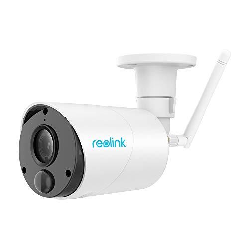 Reolink Argus Eco 1080p HD Telecamera Wi-Fi Esterno Wireless a Batteria, Videocamera Sorveglianza Ricaricabile ad Energia Solare, Audio a 2 Vie (con Antenna Esterna)