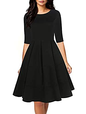 65% Cotton , 35% Polyester. Half Sleeve,O-Neck Swing Dress.It have stretchy.High waist,There are pockets on both sides of the clothes.Cinches in waist. Contrast Color,Patchwork,Stretch,Above Knees,Vintage Style,Casual Autumn Swing Dress Washing Tip:H...