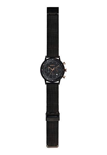 Breil - SIX.3.Nine TW1812 Herrenuhr - Elegantes Schwarz, Multi-Dial-Chronograph mit Datum - 44mm Stahlgehäuse - Klassisches Edelstahl-Maschenarmband - Quarzwerk