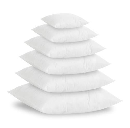Textilhome - Set di 2 Cuscini in Piuma Sintetico Si, 60x60 cm - imbottiutra Interna 800g, per...