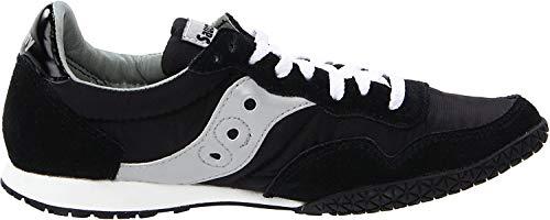 Saucony womens Bullet Sneaker, Black/Silver, 8 M US