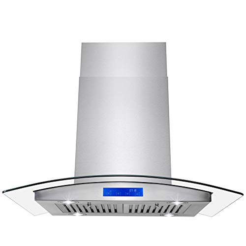 "5. Firebird 36"" Wall Mount Stainless Steel Ductless Range Hood"