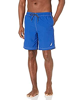 Nautica Size Chart Get pool-side ready in a handsome Nautica® swim trunk. Solid woven swim short features contrast seams. Elasticized drawstring waist. On-seam hand pockets. Hook-and-loop rear pocket with brand embroidery. Large J-Class embroidery at...