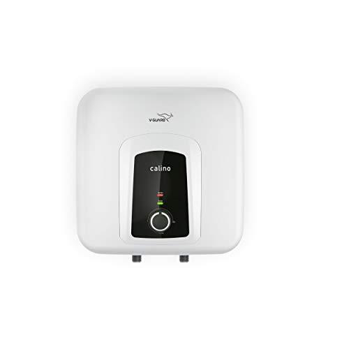 V-Guard Calino 15L Storage Vertical Electric Water Heater, White, 5 Star (15 Litre)