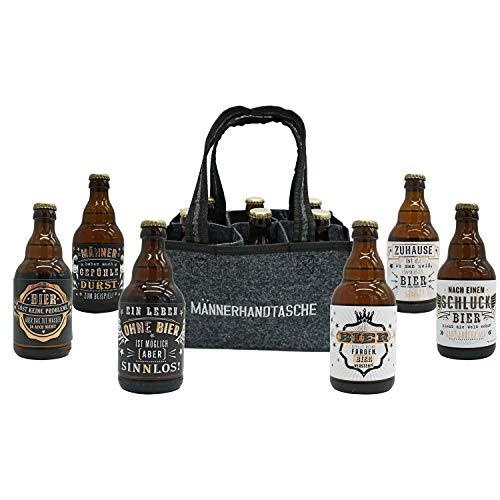 Jack's Männerhandtasche/gefüllt mit 6 Bierflaschen/witzige...