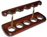 パイプスタンド 5喫煙パイプ用木製スタンド Wooden stand for 5 smoking pipes