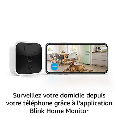 41+0eXR2ZTL._SL500_ [Bon plan] Blink Indoor, Caméra de surveillance HD sans fil avec deux ans d'autonomie, détection des mouvements et audio bidir...