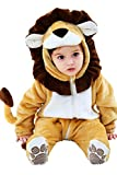 Halloween Costume Baby Infant Lion Cosplay Romper Toddler Wild Animals' King Dress up Outfit 0-24 Months