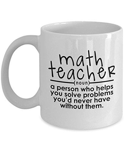 Math Teacher Mug – Helps You Solve Problems – Funny Gift...
