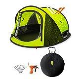 Zenph Tente Camping pour 2-3 Personnes Automatique, Pop Up Ouverture Rapide Tente instantanée Camping...