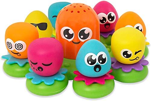 """TOMY Wasserspiel für Kinder \""""Okto Plantschis\"""" Mehrfarbig, Hochwertiges Kleinkinderspielzeug, Spielzeug für die Badewanne, Babyspielzeug ab 1 Jahr, Geschenke für Babys, Badewannenspielzeug"""