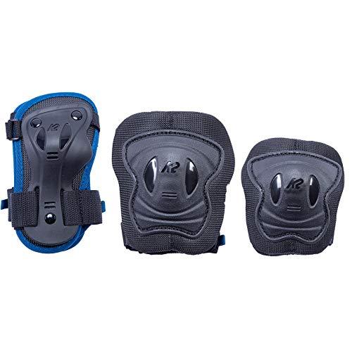 K2 Skates Mädchen RAIDER PRO PAD SET, blue, S (Knee: A:30-34cm B:27-31cm / Elbow: A:22-25cm B:18-21cm / Wrist: A:19-21cm B:15-17cm)
