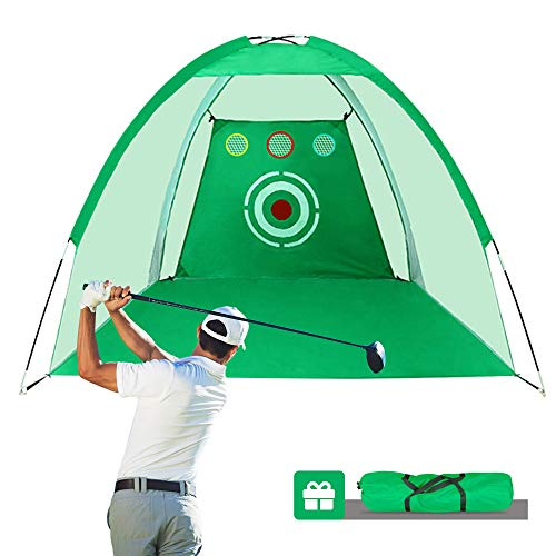 Sinolodo Two-in-One Golf Net| Golf Hitting Net|Golf Chipping Net|with Target Carry Bag|Hitting Nets Training Aids Practice Nets for Backyard Driving Range Chipping Net Outdoor&Sports