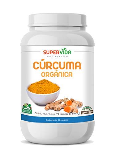 Cúrcuma Orgánica en polvo 90 Capsulas SuperVida Nutrition