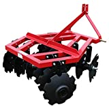 Titan Distributors Inc. Category 1 3 Point Notched Disc Harrow Plow for Kubota New Holland Tractors | 4 Feet