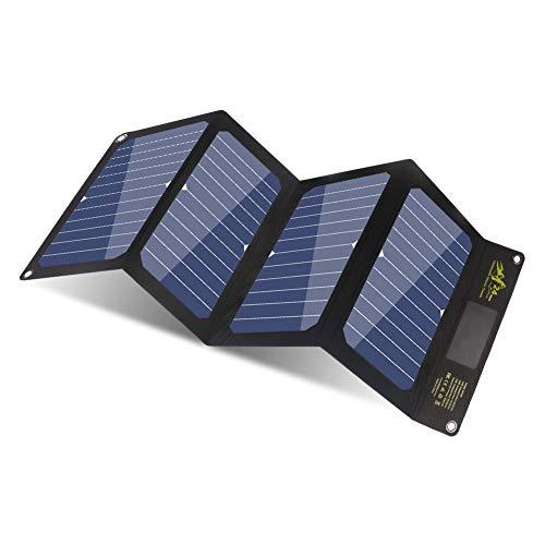 BigBlue 24W Chargeur Solaire Mince et Léger avec 3 Ports USB(5V/4A Max Total), SunPower Panneau...