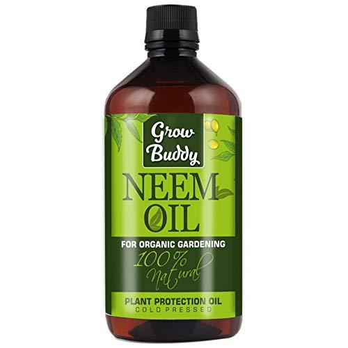 GROWBUDDY Liquid Neem Oil for Organic Farming and Plant Growth, 500ml