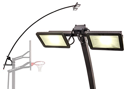 Goalrilla LED Basketball Hoop Light Illuminates backboard, Rim, and Court and Fits All Goalrilla and Other In-Ground Hoops