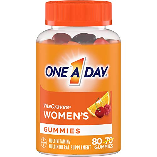 One A Day Women's Multivitamin Gummies, Supplement with Vitamin A, Vitamin C, Vitamin D, Vitamin E and Zinc for Immune Health Support*, Calcium & more, 80 count