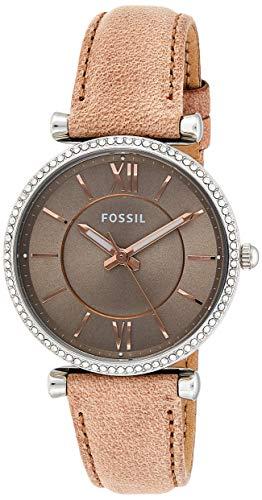 Fossil Damen Analog Quarz Uhr mit Leder Armband ES4343