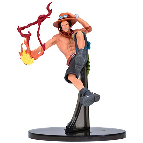Action Figure Onepiece Sculture - Portgas D Ace Banpresto Multicores