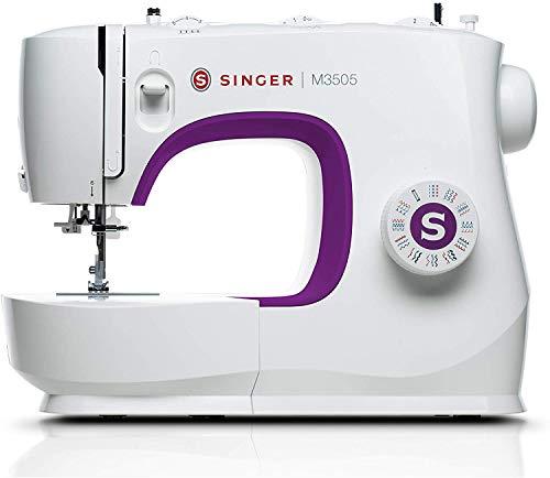 Singer M3505 Macchina da Cucire Professionale, Cucitrice Automatica, 34 Funzioni di Cucitura, Cucito Creativo, Cuce tutti i Tessuti, Elettrica, Portatile, da Casa, Cuciture Facile per Principianti