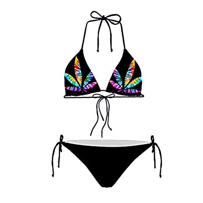 1.Sliding Triangle bikini top, Removable Push up Enhancement Padding 2.Adjustable Ties at Neck and Back, Double Rise and Scrunch at back for swimwear bottom 3.Fully Lined for bathing suit top and bottom 4.Perfect for swimming, pool, beach, party, hol...