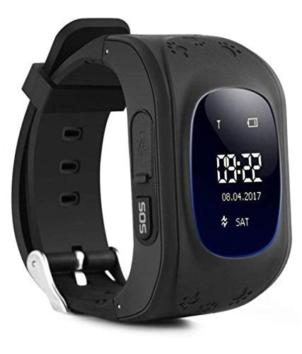 MUSTTALK Q50 Kid's Smartwatch with GPS Tracker and SIM Support System, Calling Function and for Android/iOS Smartphones (Black