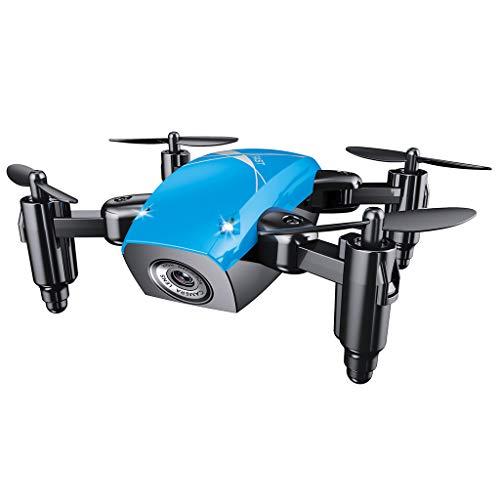 ZJL220 S9HW Mini Drone S9 No Fotocamera RC Helicopter Pieghevole Drone Altitude Hold Quadcopter Blu