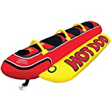 Airhead Hot Dog 3 | 1-3 Rider Towable Tube for Boating, Multi (HD-3)