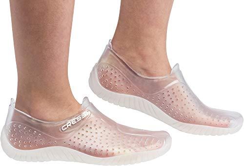 Cressi Water Shoes Escarpines, Unisex Adulto, Claro (Transparente), 39 EU