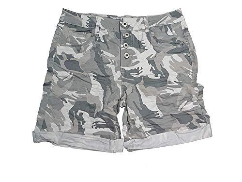 Karostar by Lexxury Damen Baggy Boyfriend Stretch Shorts Bermuda Hose...
