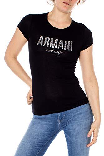 ARMANI EXCHANGE 8nyt98 T-Shirt, Nero (Black 1200), Small Donna